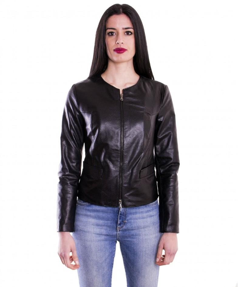 giacca-in-pelle-da-donna-vera-pelle-effetto-coccodrillo-nero-clear