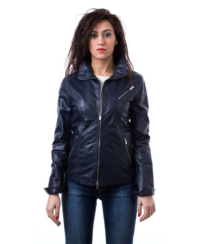 giacca-in-pelle-donna-collo-camicia-colore-nero-mesia