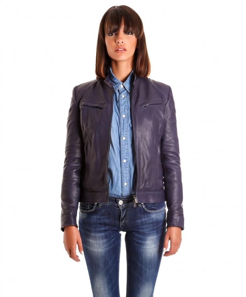 giacca-in-pelle-donna-modello-chiodo-biker-con-impunture-blu-mia (2)