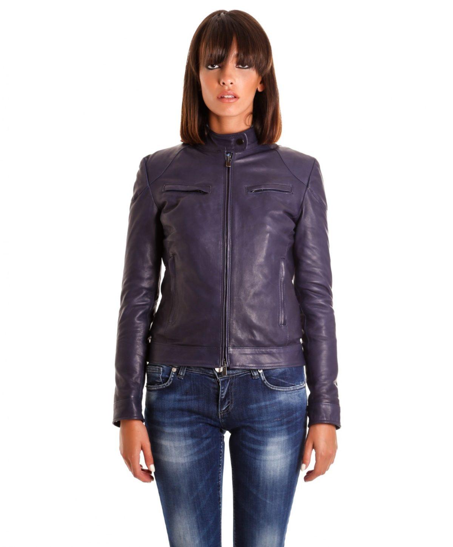 giacca-in-pelle-donna-modello-chiodo-biker-con-impunture-blu-mia