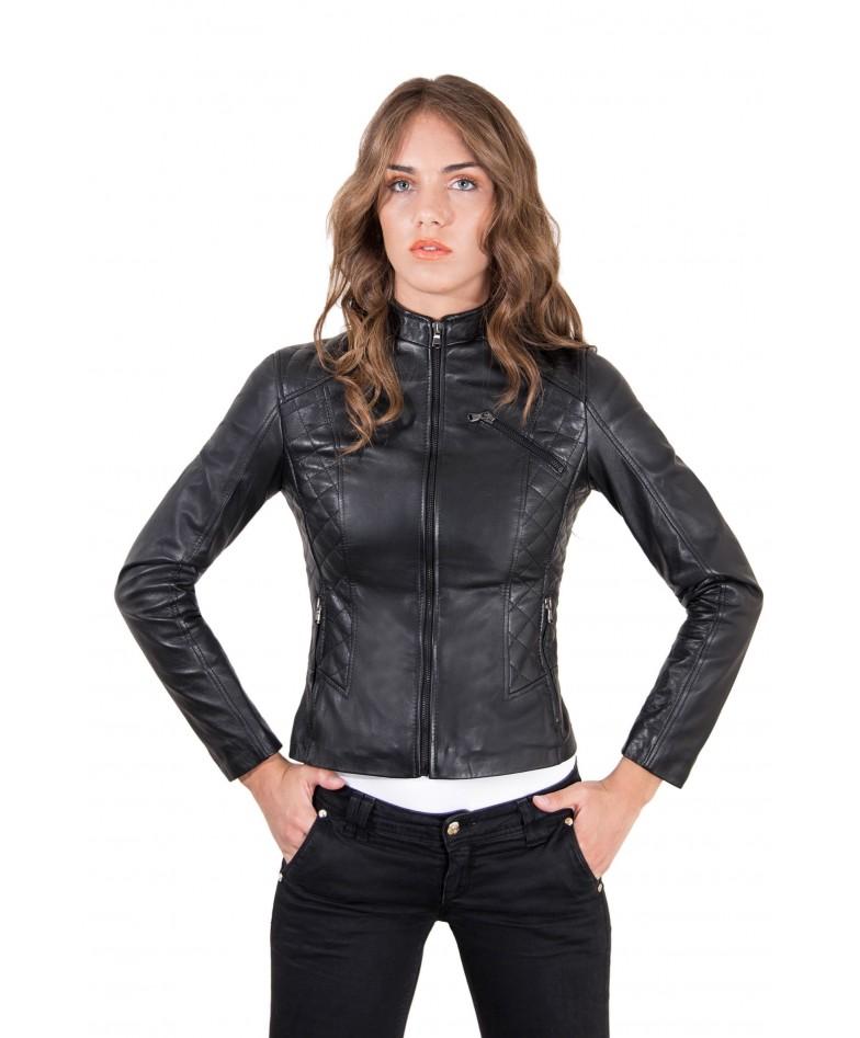 giacca-in-pelle-donna-trapuntata-modello-chiodo-biker-colore-nero-geny-collezione-donna-autunno-inverno