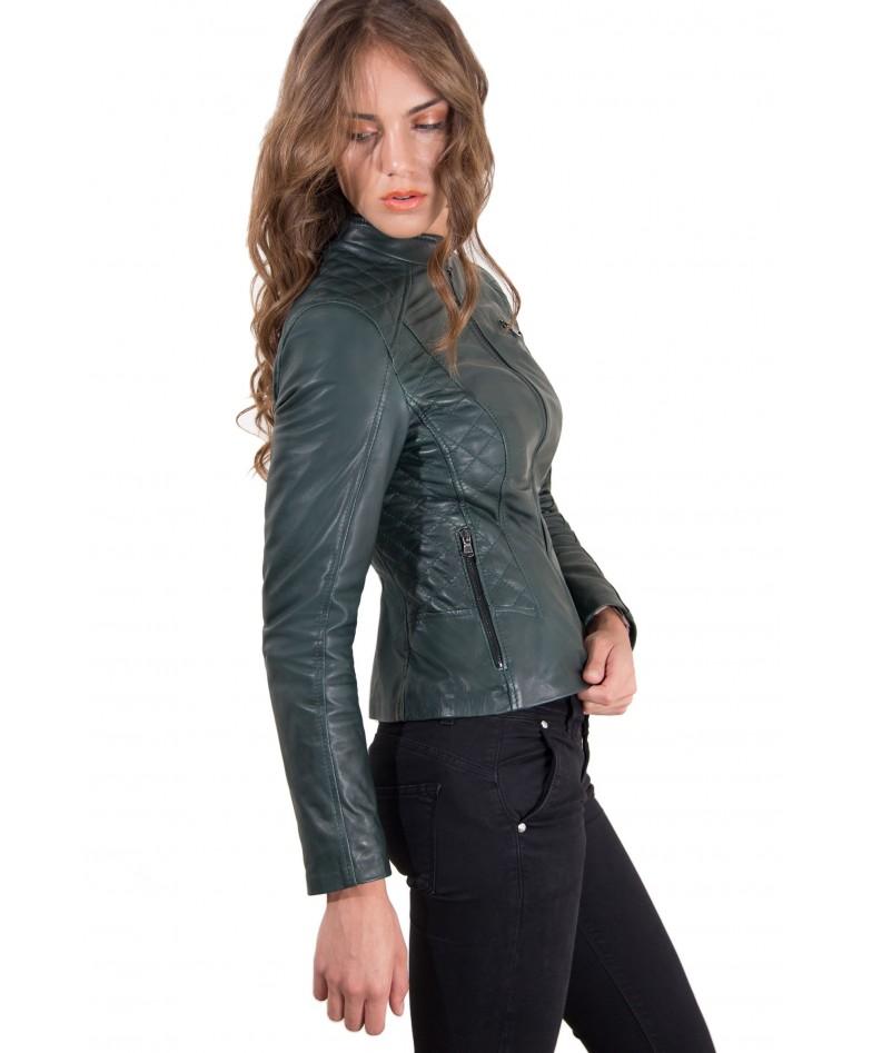 giacca-in-pelle-donna-trapuntata-modello-chiodo-biker-colore-verde-geny-collezione-donna-autunno-inverno (3)