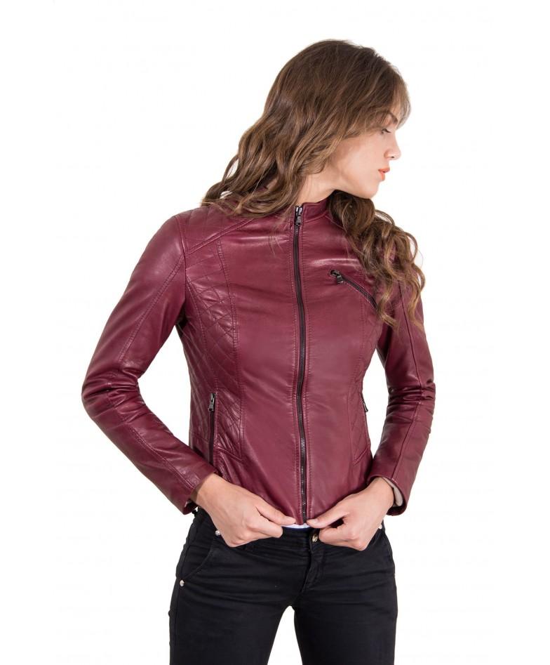 giacca-in-pelle-donna-trapuntata-modello-chiodo-biker-colore-vinaccio-geny-collezione-donna-autunno-inverno