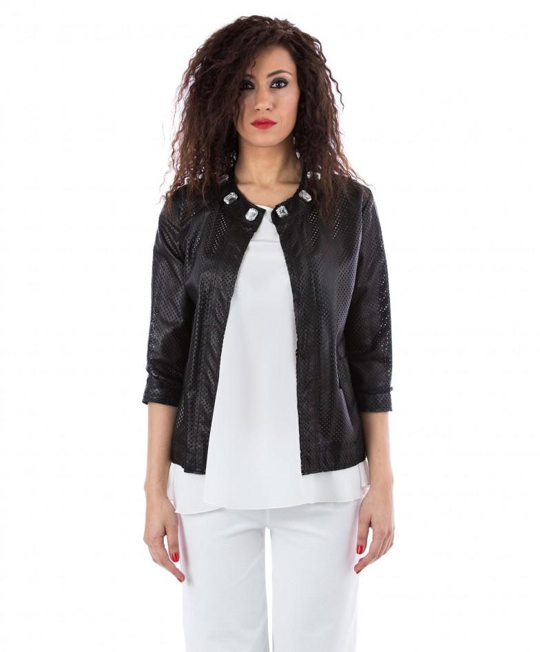 giacchino-in-pelle-traforata-donna-nero-soprabito-emma