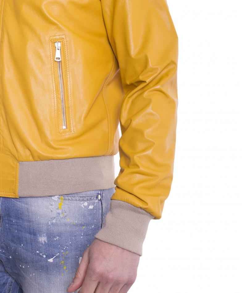 giubbotto-in-pelle-da-uomo-con-cappuccio-e-fodera-traforata-colore-giallo-biancolino- (1)