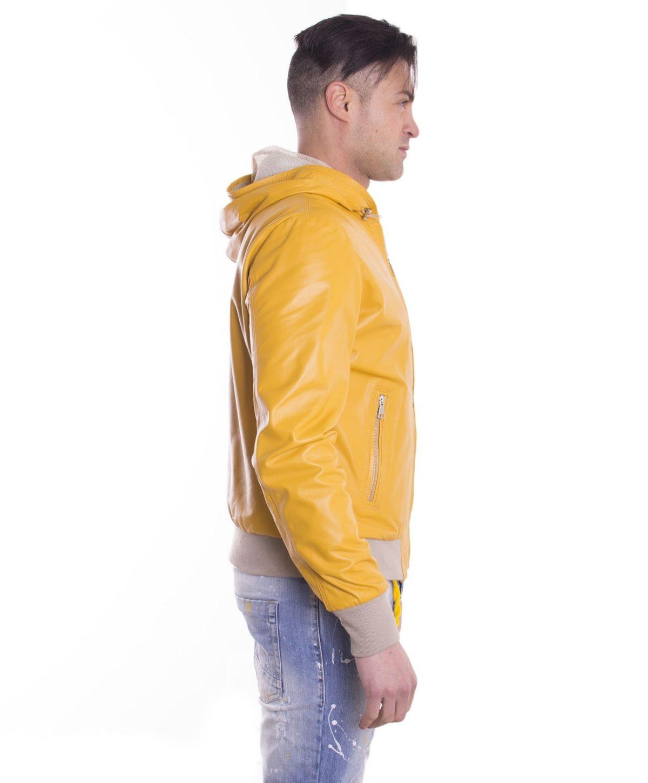 giubbotto-in-pelle-da-uomo-con-cappuccio-e-fodera-traforata-colore-giallo-biancolino- (4)