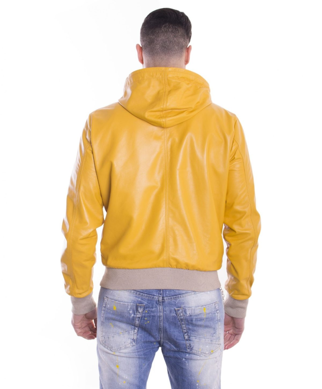 giubbotto-in-pelle-da-uomo-con-cappuccio-e-fodera-traforata-colore-giallo-biancolino- (5)