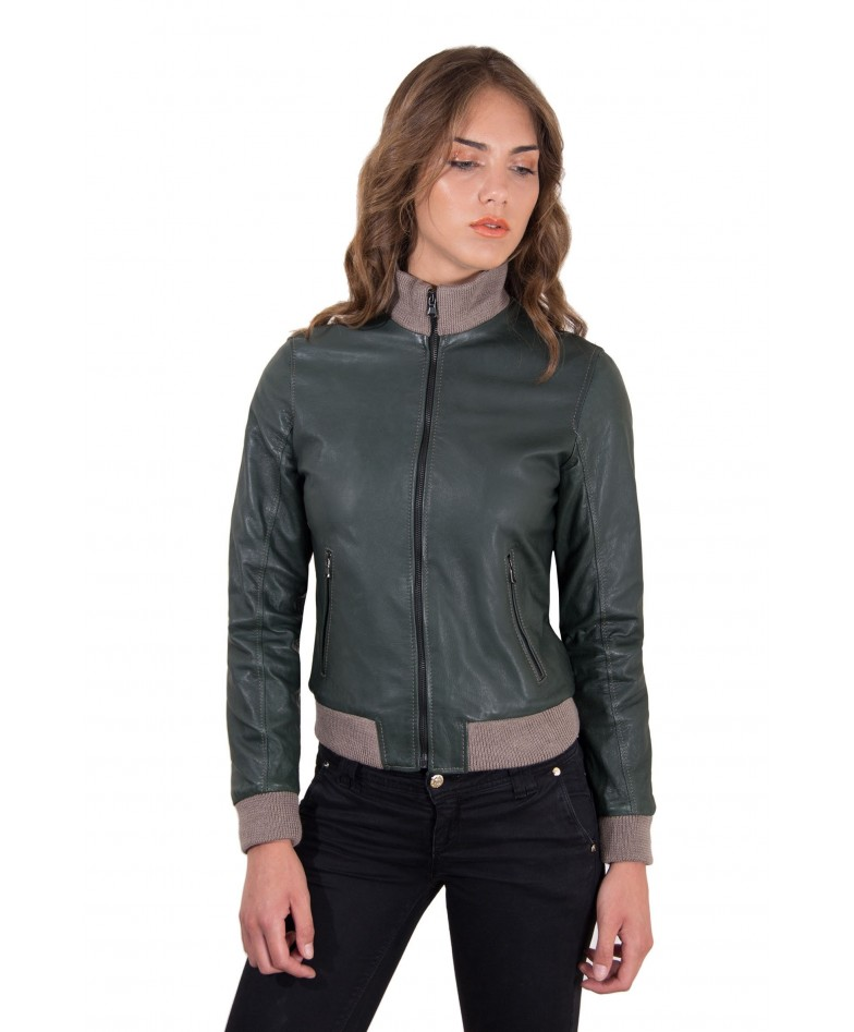 giubbotto-in-pelle-donna-modello-bomber-con-cerniera-centrale-colore-verde-g155-collezione-donna-autunno-inverno