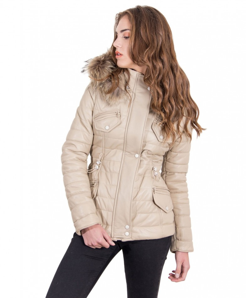 lucilla-beige-color-nappa-lamb-leather-fox-hooded-down-jacket-smooth-effect