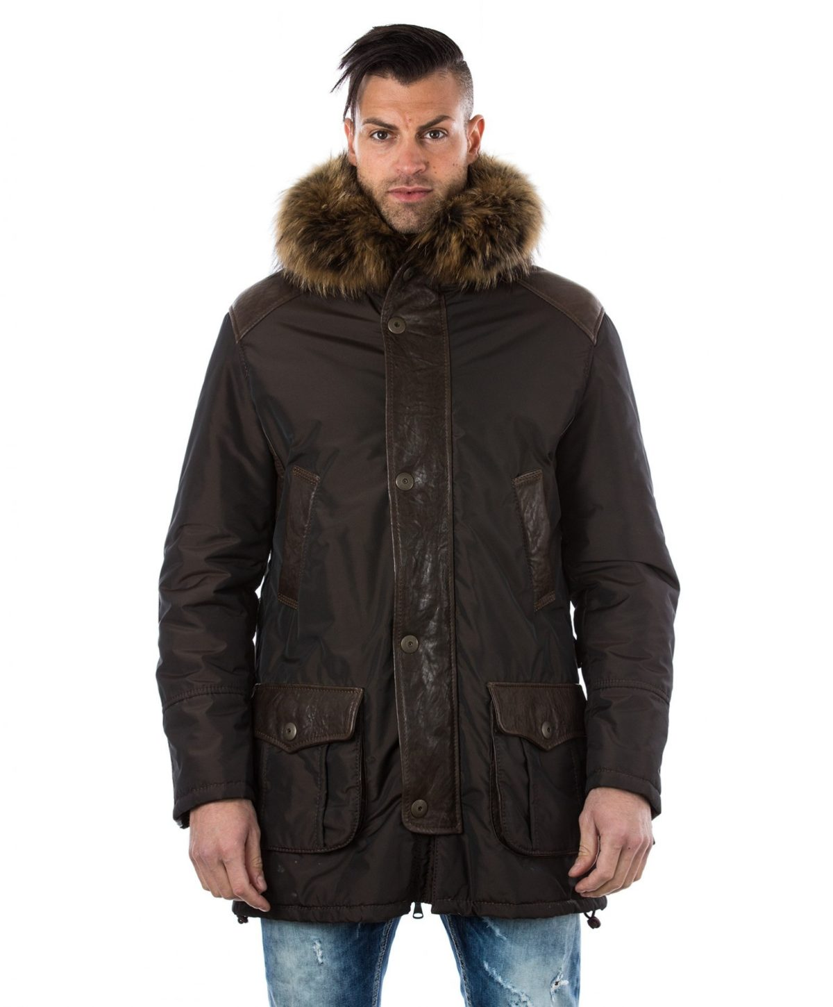 man-leather-and-fabric-coat-fox-fur-hood-brown-marco
