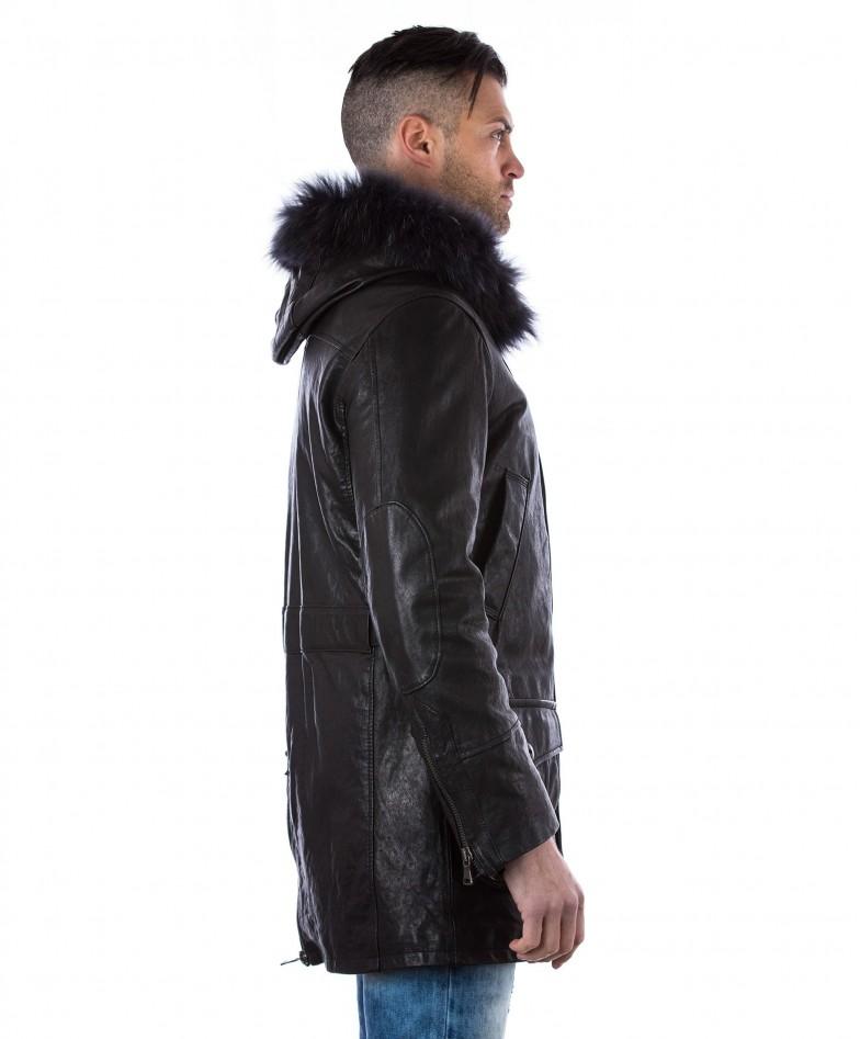 man-leather-coat-fox-fur-hood-black-marco (3)
