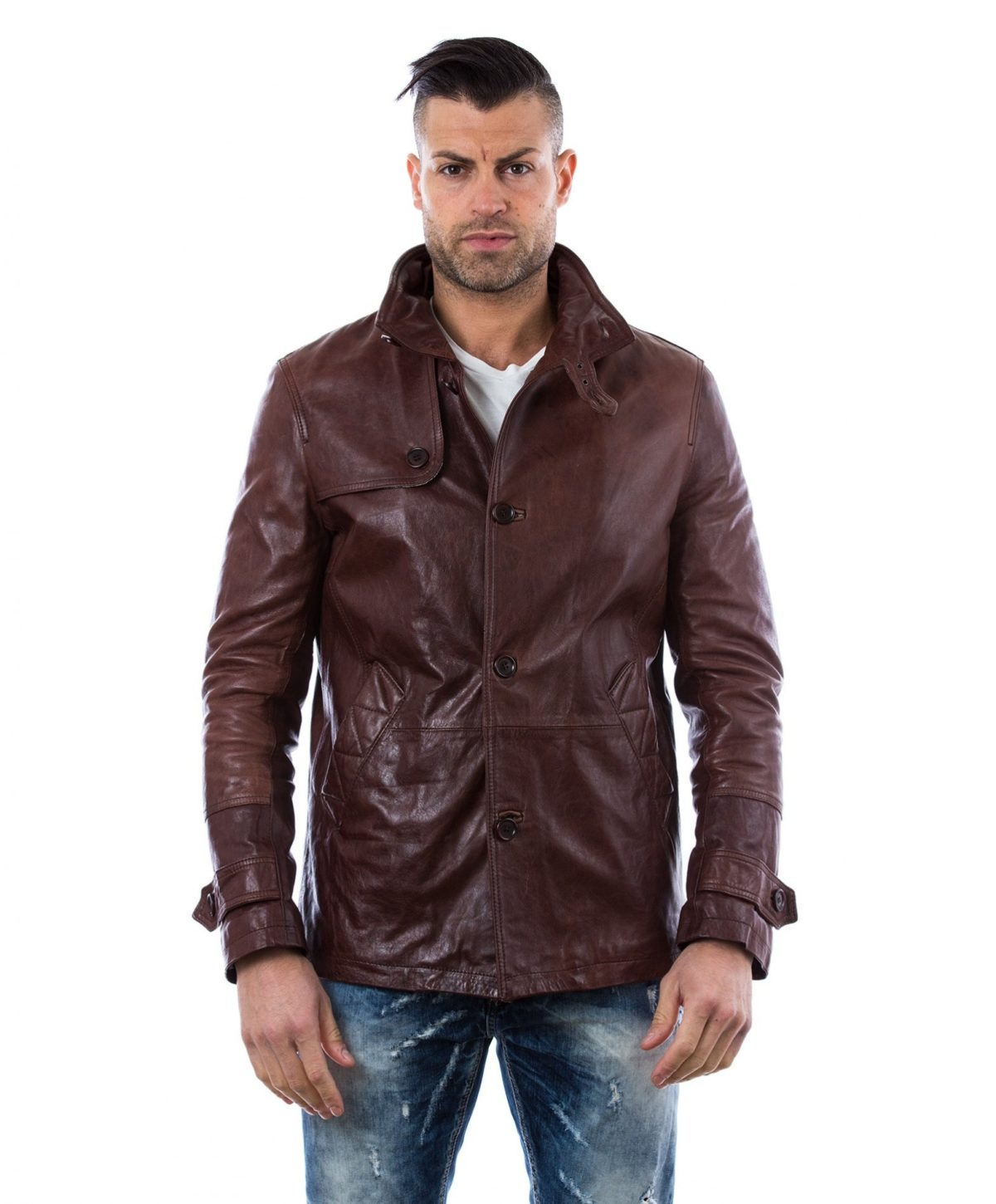 man-leather-jacket-3-buttons-brown-color-gm