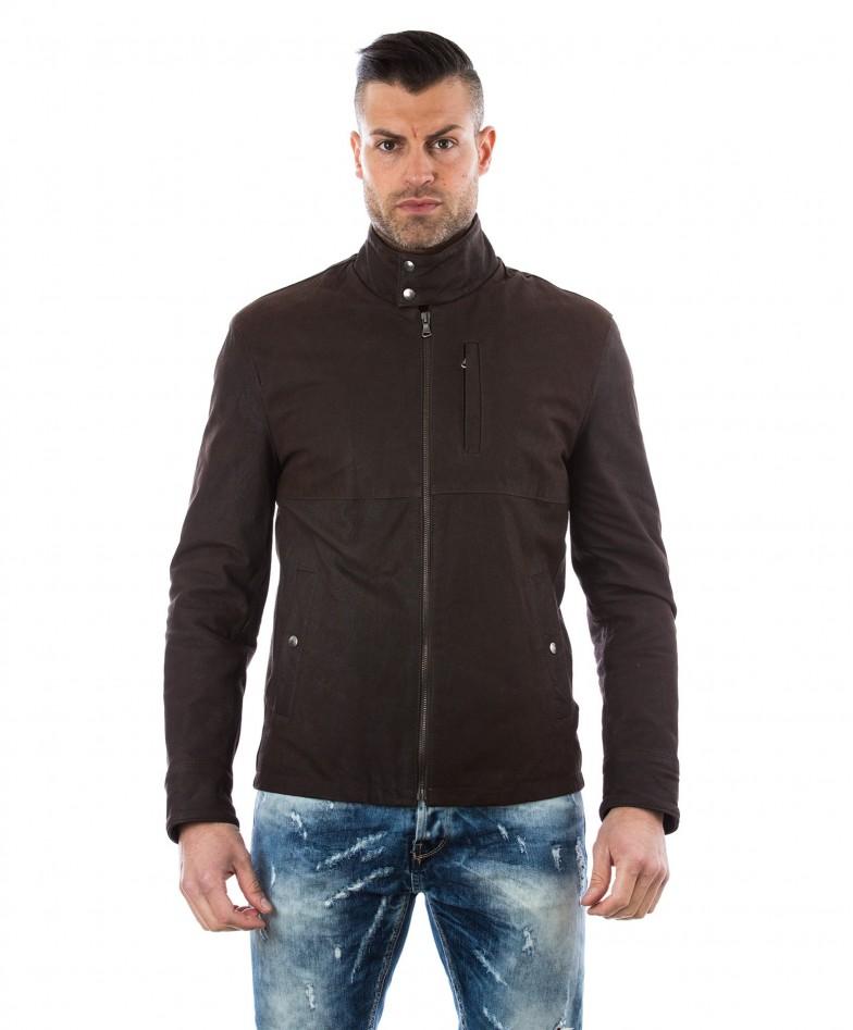 man-leather-jacket-central-shirt-collar-davide-cervo-brown
