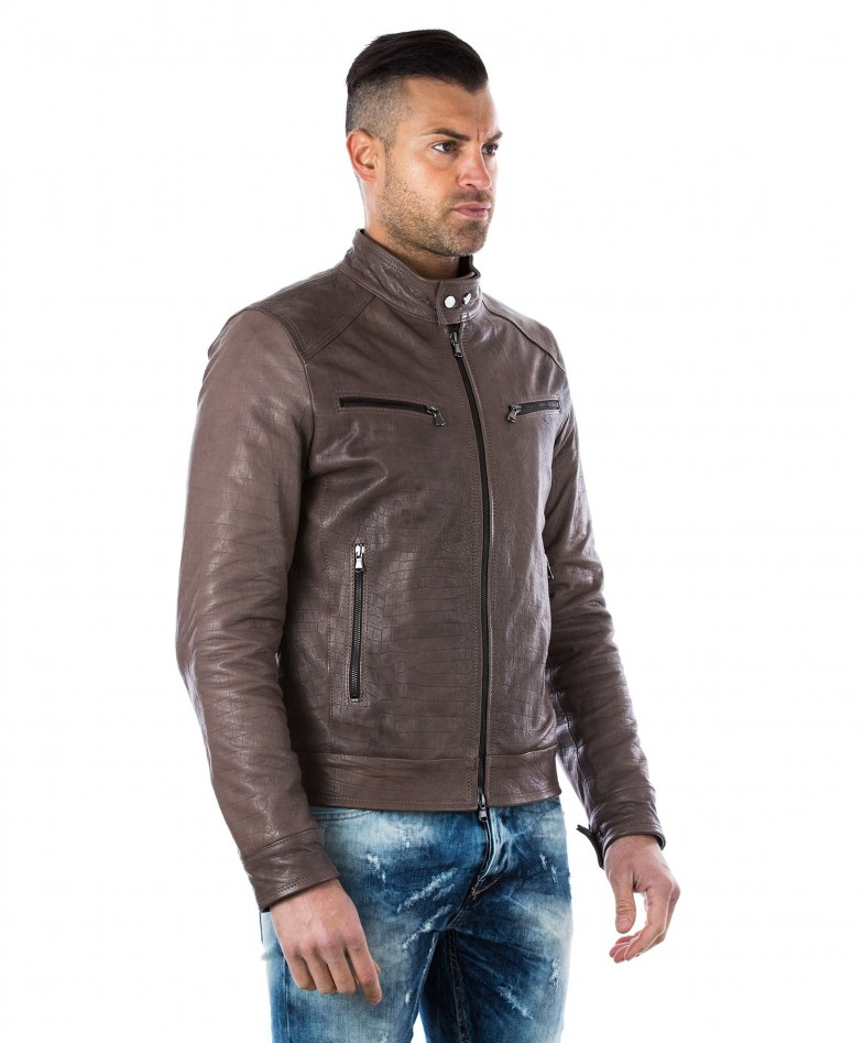 men-s-leather-jacket-genuine-crocodile-effect-soft-leather-biker-style-collar-mao-grey-color-hamilton (2)