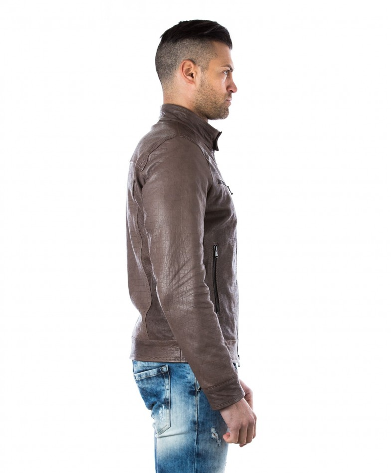 men-s-leather-jacket-genuine-crocodile-effect-soft-leather-biker-style-collar-mao-grey-color-hamilton (3)