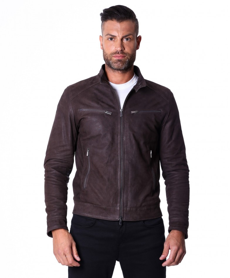 men-s-leather-jacket-genuine-nabuk-soft-leather-biker-style-collar-mao-dark-brown-color-hamilton