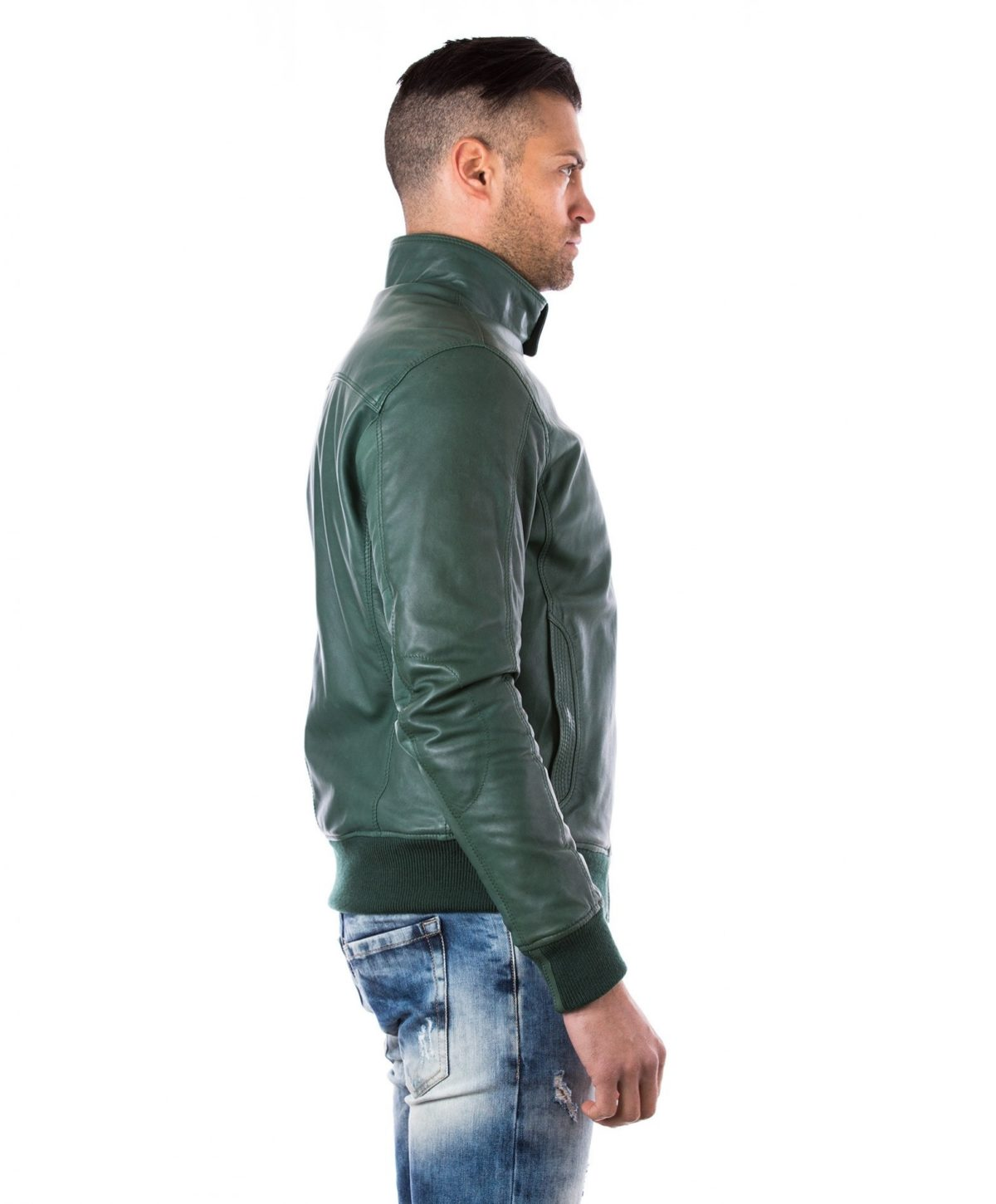 men-s-leather-jacket-genuine-soft-leather-style-bomber-bicolor-wool-cuffs-and-bottom-one-zip-pocket-green-color-thil (3)