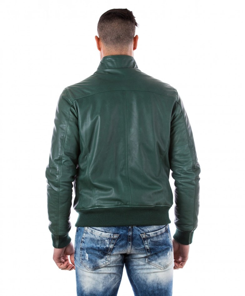 men-s-leather-jacket-genuine-soft-leather-style-bomber-bicolor-wool-cuffs-and-bottom-one-zip-pocket-green-color-thil (4)