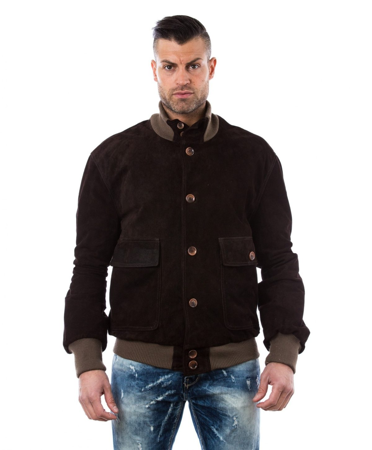 men-s-leather-jacket-genuine-soft-leather-style-bomber-wool-cuffs-and-bottom-buttons-closing-blue-color-mod-alex