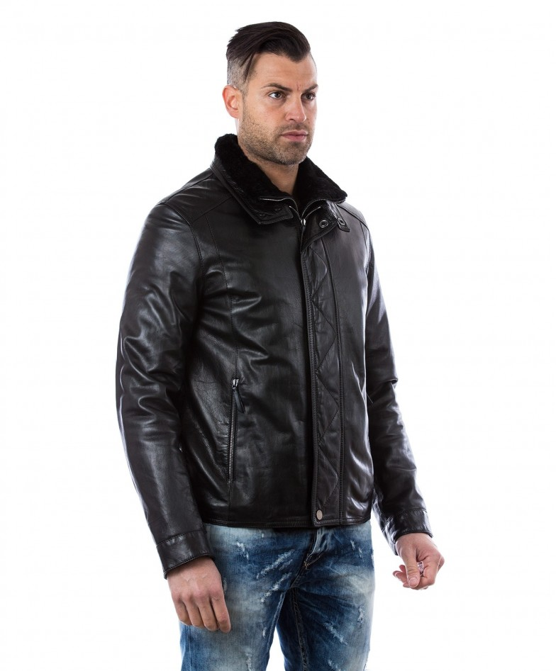 men-s-leather-jacket-mink-fur-collar-central-zip-and-buttons-pockets-regular-fit-davide-black (2)