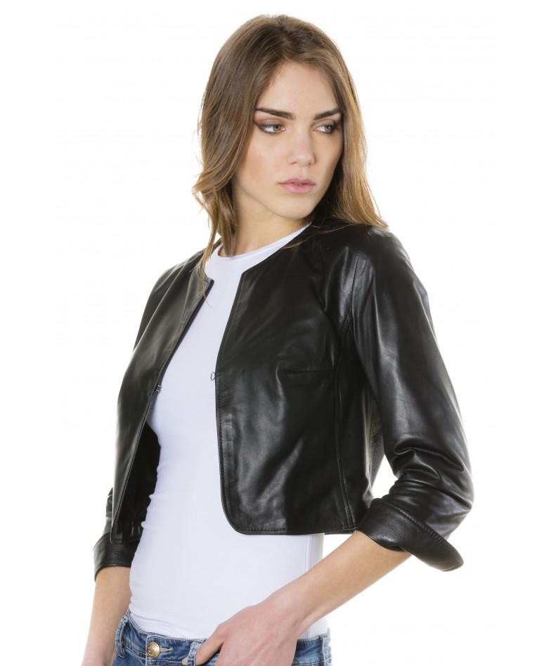miss-black-color-lamb-leather-round-neck-short-jacket (1)