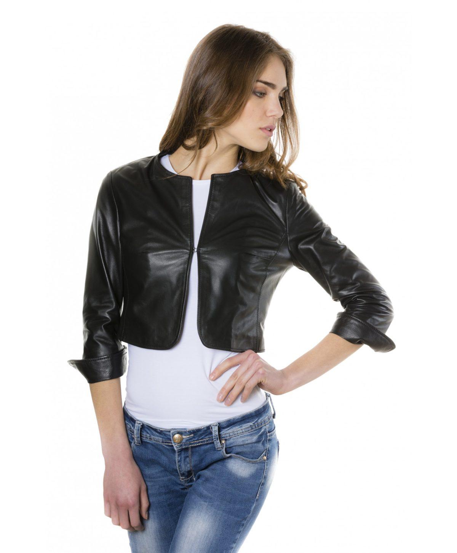 miss-black-color-lamb-leather-round-neck-short-jacket (3)
