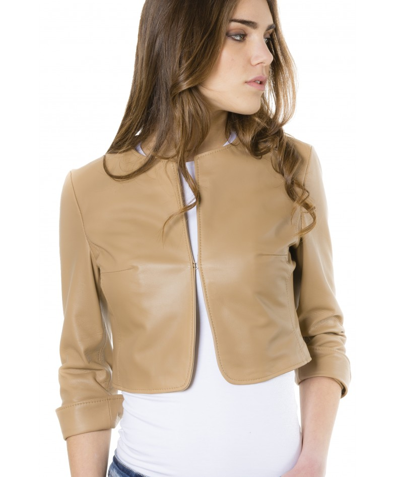 miss-brown-color-lamb-leather-round-neck-short-jacket (2)