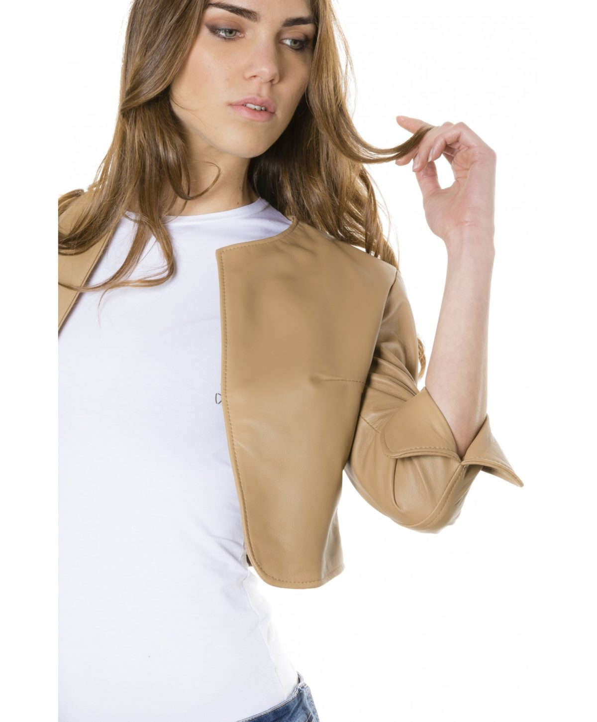 miss-brown-color-lamb-leather-round-neck-short-jacket (4)