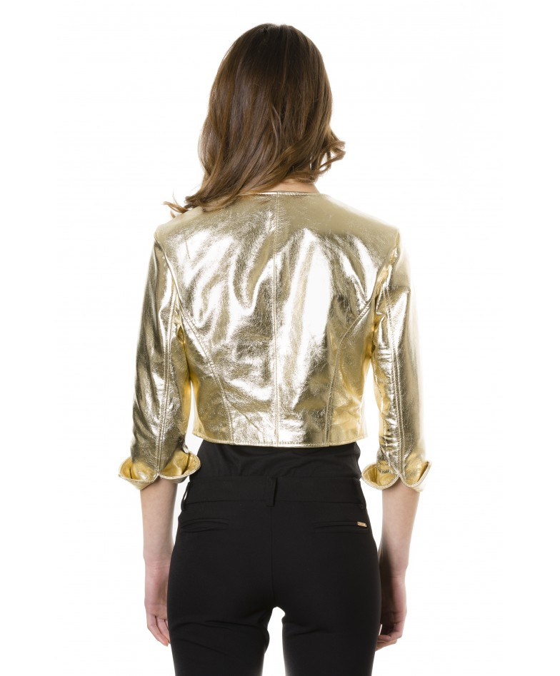 miss-gold-color-laminated-nappa-lamb-leather-round-neck-short-jacket (3)