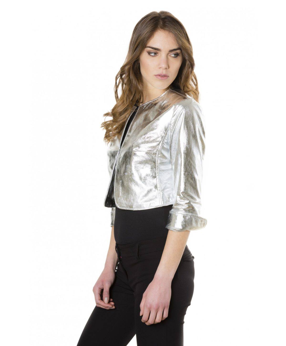 miss-silver-color-laminated-nappa-lamb-leather-round-neck-short-jacket (2)