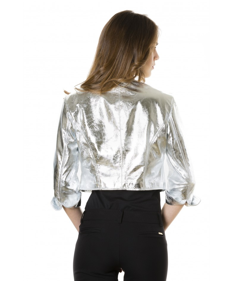 miss-silver-color-laminated-nappa-lamb-leather-round-neck-short-jacket (4)