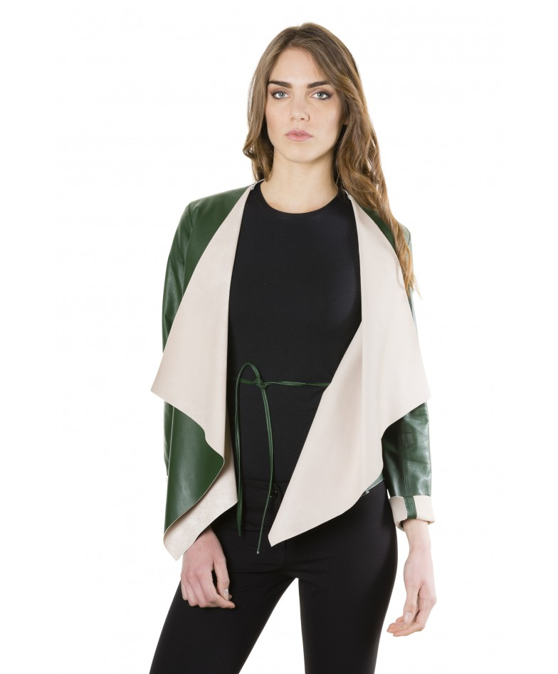 monic-green-colour-nappa-lamb-leather-jacket-smooth-effect