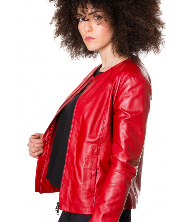 p151-red-color-nappa-lamb-leather-short-jacket-smooth-effect (2)