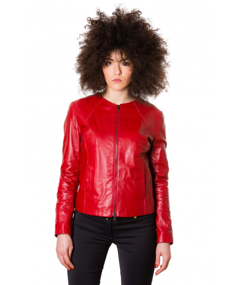 p151-red-color-nappa-lamb-leather-short-jacket-smooth-effect