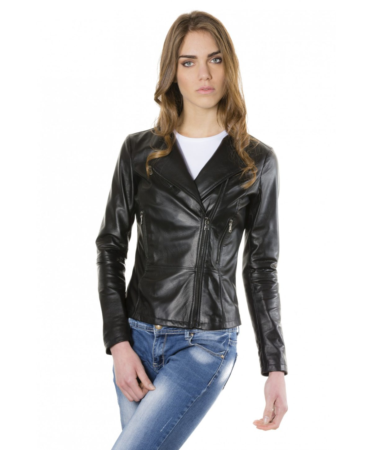 pinko-black-color-nappa-lamb-leather-jacket-smooth-effect