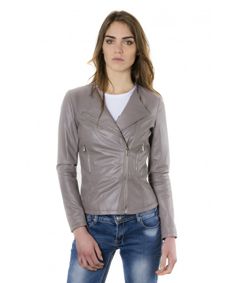 pinko-grey-color-nappa-lamb-leather-jacket-smooth-effect