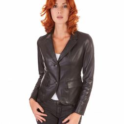 Leather Blazer Womens